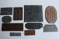 Dix plaquettes d'imprimerie publicité aperitif PICON