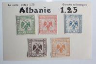 Timbres Albanie Vetekeverria 1921 neufs sur charnière