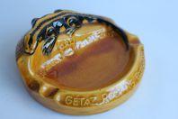 Cendrier publicitaire Gétaz Romang Ecoffay SA salamandre Art nouveau