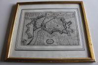 Gravure carte de Genève 1650 Kaspar MERIAN (1627-1686)