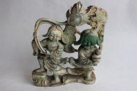 Ancienne figurine en jade sculptée Chine