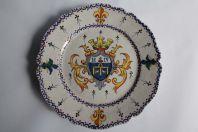 Ancienne assiette Armoirie Henri IV Alcide Chaumeil