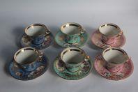 Ancien service thé porcelaine fleurs