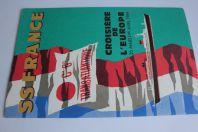 Brochure Croisière Europe 1969 Coupe longitudinale Paquebot France
