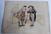 Dessin original Camille PELLETAN et S.M. EDOUARD