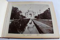 Album de photos et aquarelles Indes Taj-Mahal Boers Pakistan