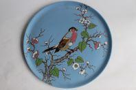 Assiette en céramique émaux de Longwy