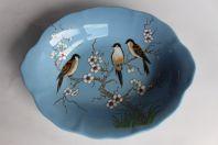 Corbeille en céramique émaux de Longwy
