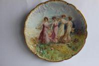 Grande assiette decorative Limoges Napoleon III