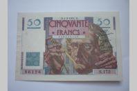 Billet 50 Francs Le Verrier type 1946 1-2-1951 France