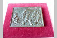 """Bas relief bronze """" bacchanale d'enfants """""""