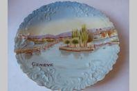 Assiette porcelaine XIXe siècle Genève