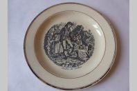 Assiette Faïence de Carouge Baylon 1803-1829 Canton du Valais