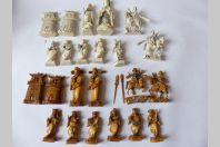 Jeu d'échecs ancien en ivoire Chine ou Japon