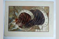 """Estampe """"Hiver"""" Panneau décoratif PATTEN-WILSON Art nouveau"""
