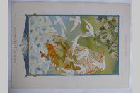 """Estampe """"L'air"""" Allégorie G. BOURGEOT Art nouveau"""
