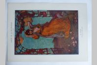 """Estampe """"La danse"""" Panneau AMAN JEAN Art nouveau"""