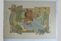 """Estampe """"L'agriculture"""" Panneau décoratif EUGENE GRASSET Art nouveau"""
