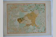 """Estampe """"La musique"""" Allégorie POPINEAU Art nouveau"""