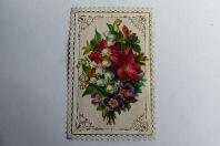 Chromo gaufré découpé fleurs muguet 1890