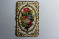 Chromo gaufré fleurs 1890