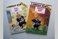 BD L'Agent 212 N°16 Flic Aïe et N°18 Poulet rôti Série Limitée