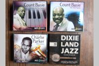 Lot de 4 cofferts de CD Musique Jazz Count Basie Parker