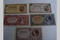 Billets x 5 Hongrie 1946