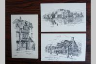 3 CPA ANGLETERRE STRATFORD ON AVON Shakespeare illustrée