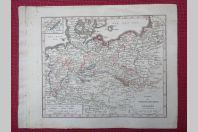 Gravure Carte Allemagne Prusse époque 1820