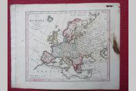 Gravure Carte Europe époque 1820