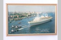 Publicité compagnie maritime Holland AMERICA LINE Bateau