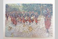 Ancien puzzle Bois Les Zouzous Zouaves Armée Afrique