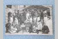 Carte photo Suisse Thoune 1918 Cuisinier Militaire