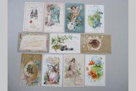 11 CPA Fantaisie Relief Pâques Femme Fleurs