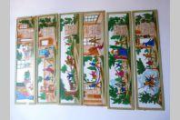 Suite de 6 plaques de verres peintes pour projecteur 'Don Quichotte'