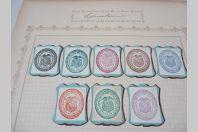 Lot de timbres taxe, cachet et documents d'Amérique Du Sud