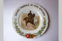 Assiette Société Fédérale de Sous - Officiers