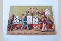 """Chromo calendrier """" A La Souveraine """" Lyon 1882"""