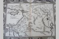 Carte Pérégrinations d'Abraham XVIIIe siècle