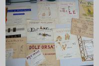 Ensemble de dessins originaux vins et alcools Alphonse Orsat Martigny ( Suisse )