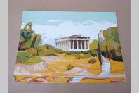 "Aquarelle "" Temple "" Archinard 1959"