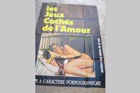 """Affiche film érotique """"Les Jeux Cachés de l'amour"""" 1981"""