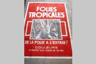 "Affiche film érotique ""Folies Tropicales"" 1981"