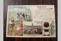 CPA Chocolat Suchard Souvenir Fribourg