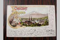 CPA Chocolat Suchard Souvenir Luzern