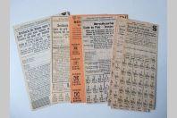 Cartes de pain Guerre 1939-45 Suisse
