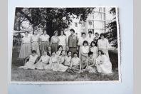Photo d'école de filles a Genève dédicacée