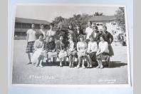Photo d'école de filles a Genève 1962 dédicacée Boissonnas