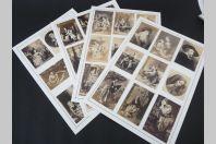 Ensemble de 35 anciennes photographies de tableaux